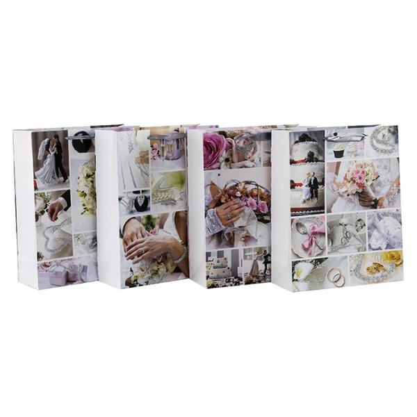 Fotodrucke glitzernder Hochzeitsempfang und bevorzugt Geschenktüten mit 4 Designs, sortiert in Tongle-Verpackung