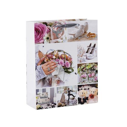 La foto imprime una boda brillante y favorece las bolsas de regalo con 4 diseños surtidos en Tongle Packing