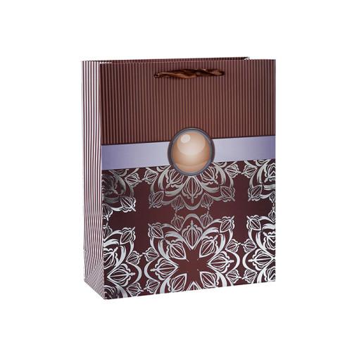 Abstrakte Muster Heißfolienprägung Papier Geschenktüten mit 4 Designs in Tongle Verpackung sortiert