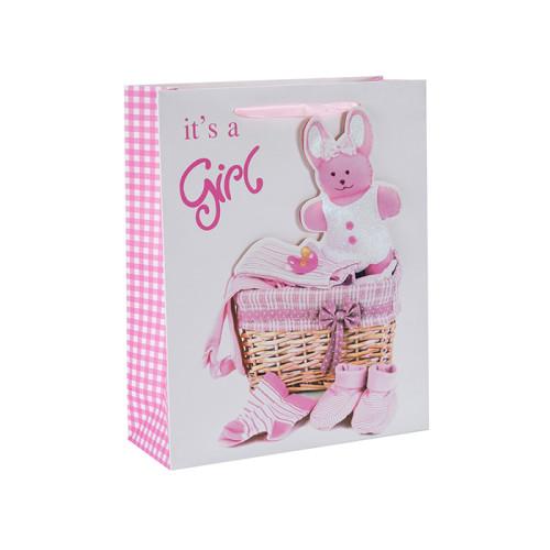 C'est un garçon et c'est une fille 3D et des sacs-cadeaux en papier scintillants avec 4 modèles assortis dans l'emballage de Tongle