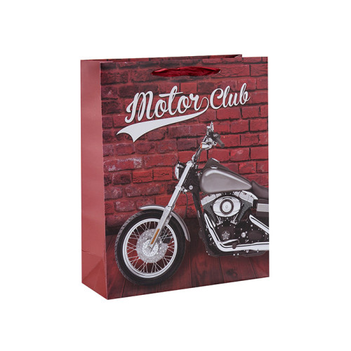Les sacs-cadeaux préférés des amoureux de la moto fabriqués avec du papier de haute qualité et 4 modèles assortis en Tongle Packing