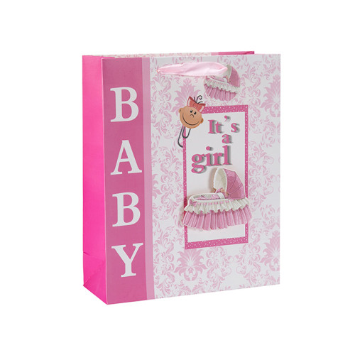 Bolsos para regalar Baby Shower en 3D y brillo con 4 diseños surtidos en Tongle Packing