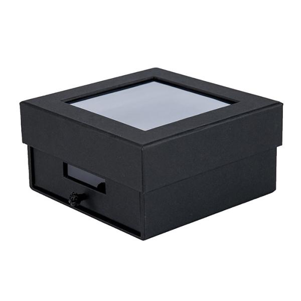 Luxus benutzerdefinierte schwarze Geschenkboxen für echte Ledergürtel in Tongle Verpackung