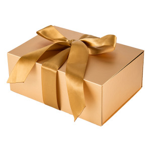 Cajas de regalo hechas a medida doradas y planas en Tongle Packing