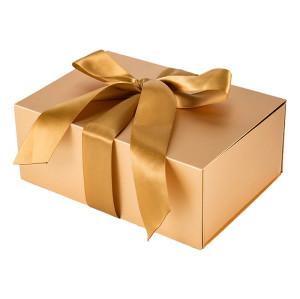 Boîtes-cadeau personnalisées emballées à plat d'or dans l'emballage de Tongle