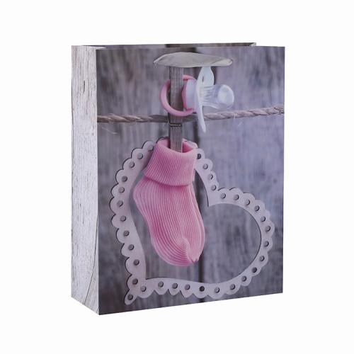 Herz, das glücklichen Valentinstag 3D berührt und Glittergeschenktaschen mit 4 Entwürfen sortierte in der Tongle Verpackung