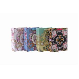 Großhandelsblume gedruckt bereiten quadratische untere Papiergeschenktasche mit 4 Entwürfen auf, die in der Tonkle Verpackung sortiert werden
