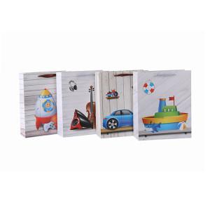 Neues Design Schöne Baby Shopping Papier Geschenktüte mit 4 Designs Assorted in Tongle Verpackung