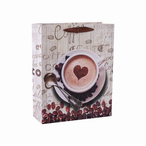 Bolsa de papel de embalaje de café de alto grado para cafetería con 4 diseños surtidos en embalaje de palanca