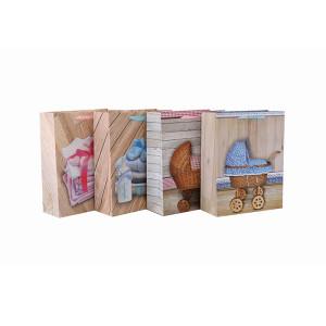 Beste Preis-Qualitäts-nette Baby-Papiergeschenktasche mit 4 Entwürfen sortierte in der Tongle-Verpackung