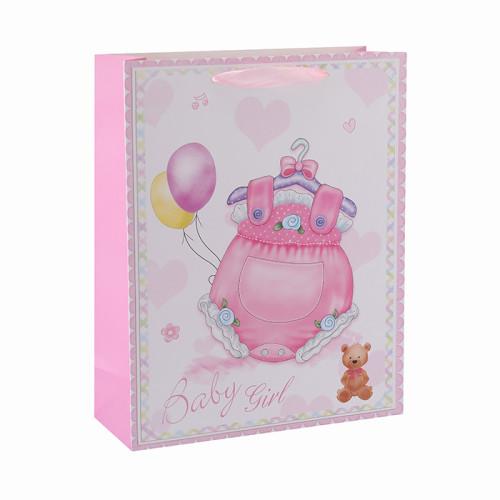 Baby Stoff individuell bedruckte Geschenktüten mit 4 Designs in Tongle Verpackung sortiert