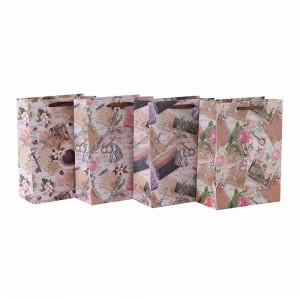 Bolsos impresos personalizados del regalo del paño del bebé con 4 diseños clasificados en embalaje de la llave