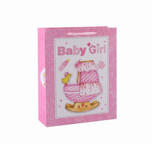 Benutzerdefinierte Papier Geschenk Taschen Karton Taschen Fancy Designs Großhandel Tasche für Baby mit 4 Designs Assorted in Tongle Verpackung
