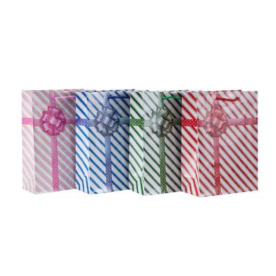 Bolsas de regalo impresas aduana del papel que hacen compras con 4 diseños clasificados en embalaje de la llave