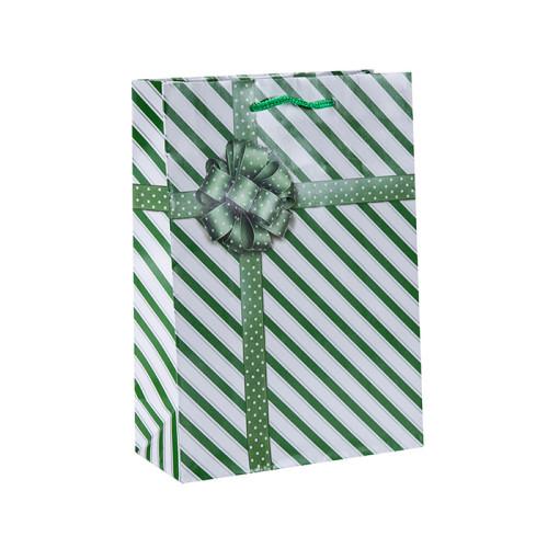 Custom Printed Paper Shopping Geschenktüten mit 4 Designs in Tongle Verpackung sortiert