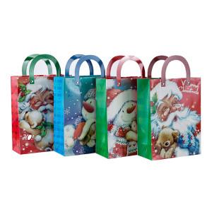 Изготовленный на заказ печатный мешок подарка подарка отца рождества с 4 конструкциями сортировал в упаковке Tongle