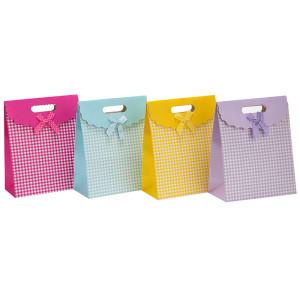 Kundenspezifischer Flauschgeschenk-Süßigkeitspapier-Verpackungsbeutel mit 4 Entwürfen sortiert in der Tongle Verpackung