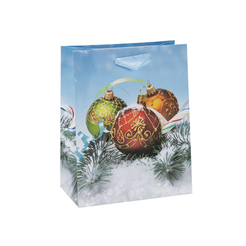 Estampado de Navidad Estampado Premium Personalizado Bolsa de Papel con 4 Diseños Surtidos en Embalaje Tongle
