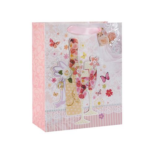 Environment Protecting Wedding Door Werbegeschenk Papiertüte mit 4 Designs Assorted in Tongle Verpackung