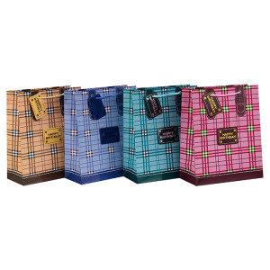 Hohe Qualität Geburtstag Dekoration Geschenk Papiertüte mit 4 Designs Assorted in Tongle Verpackung