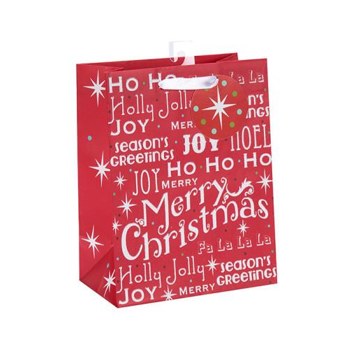 Fancy Design Weihnachten Heißer Verkauf Recycle Geschenk Papiertüten Großhandel mit 4 Designs Assorted in Tongle Verpackung