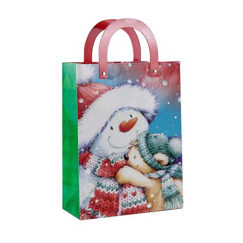Bolsa de regalo impresa personalizada de Papá Noel con 4 diseños surtidos en Tongle Packing