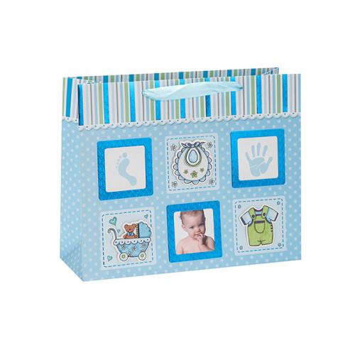 Nette Baby-Foto-Design-Geschenk-Papiertüte mit Band-Griff in der Tongle-Verpackung