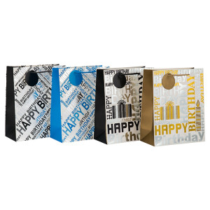 Luxus Heißprägen Geburtstagsgeschenk Papiertüte mit Seil Griff in Tongle Verpackung
