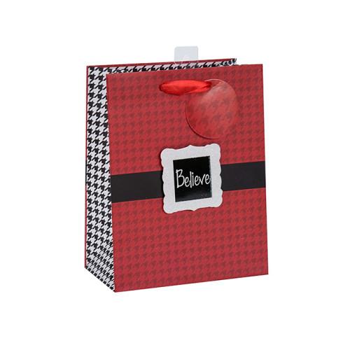 Heiße verkaufende ausgezeichnete Qualität Weihnachtspapiereinkaufstasche auf Verkauf mit 2 Auslegungen sortierte in der Tongle Verpackung