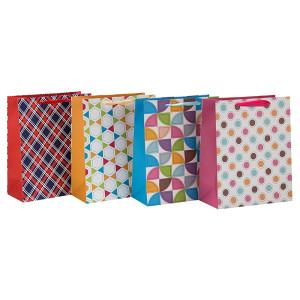 Modische Farbe Design Faltbare Multifunktionsleiste Griff Geschenkpapierbeutel in Tongle Verpackung