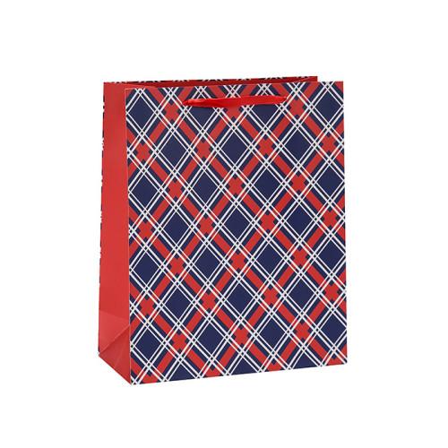 Bolsa de papel plegable del regalo de la manija de la cinta del diseño de moda del color en el embalaje de la llave