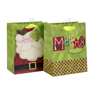 El mejor vendedor bolso excelente de la Navidad de la calidad para la venta con 2 diseños clasificados en embalaje de la llave