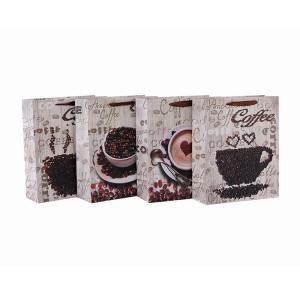 高級コーヒーパック紙袋、4つのデザインを持つコーヒーショップ用Tongle Packing