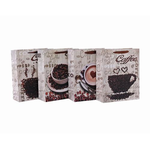 Hochwertige Kaffee Verpackung Papiertüte für Coffee Shop mit 4 Designs Assorted in Tongle Verpackung