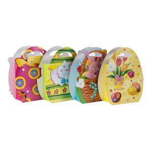 最高の価格高品質のファンシーデザインかわいい動物のショッピング紙袋は、4つのデザインは、トングパッキングで盛り合わせ