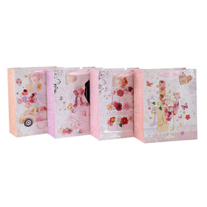 Bolso de papel promocional del regalo de la puerta de la protección del medio ambiente con 4 diseños clasificados en embalaje de la llave