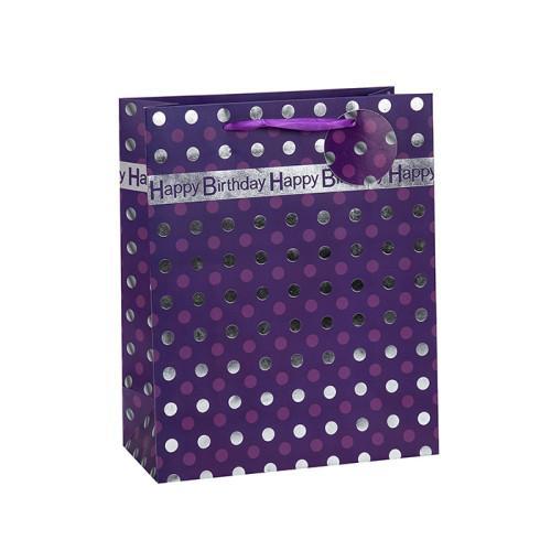 Neue Produkte Einzigartige Designpapier Geburtstagsgeschenkbeutel mit 4 Designs Assorted in Tongle Verpackung