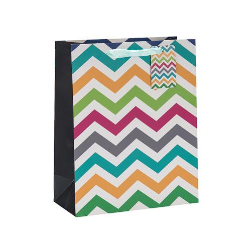 Modisches abstraktes Muster faltbare Band-Griff-Geschenk-Papiertüte in der Tongle-Verpackung
