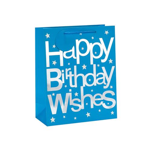 Luxus-Heißprägen Alles Gute zum Geburtstag wünscht Geschenk Papiertüte in Tongle Verpackung