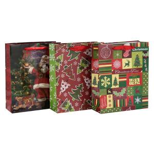 Kundenspezifisches Offsetdruck-Mattlaminierungs-Weihnachtspapier-Geschenktaschen in der Tongle-Verpackung