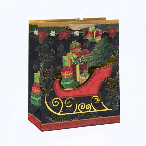 Bolsos del regalo de la Navidad del diseño único de la última llegada con diverso tamaño con 3 diseños clasificados en embalaje de la llave