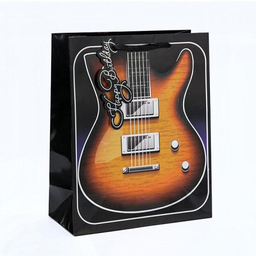 Bolso de papel de lujo del regalo de cumpleaños del nuevo diseño simple de la llegada con diverso tamaño con 4 diseños clasificados en embalaje de la llave