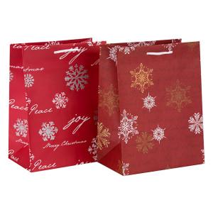 Neue Design Dekorative Heißprägen Weihnachtsgeschenk Papier Verpackung Tasche in Tongle Verpackung
