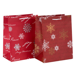 Bolso del paquete del papel del regalo de la Navidad del estampado en caliente decorativo del nuevo diseño en embalaje de la llave