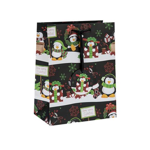 Großhandelskundenspezifischer Offsetdruck-frohe Weihnacht-Geschenk-Taschen mit Papierumbau in der Tongle-Verpackung