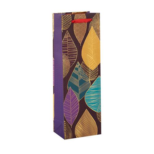 Bolsas impresas aduana de empaquetado del vino de la botella de papel del regalo de lujo al por mayor de la fábrica en embalaje de la llave