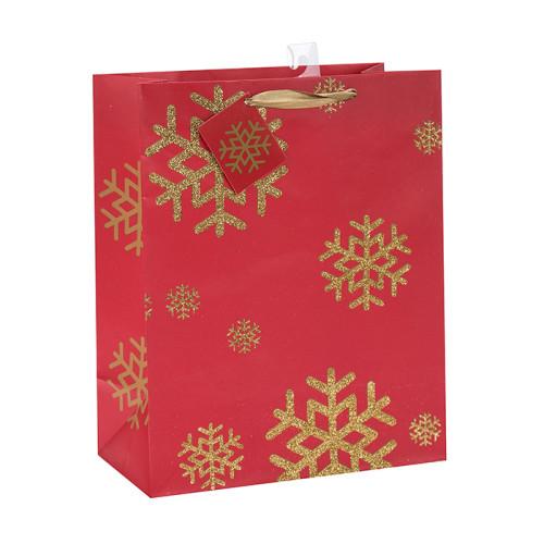 Bolsa de papel de alta calidad con asas Bolsa de papel de regalo de Navidad con diferentes tamaños con 4 diseños surtidos en embalaje de palanca