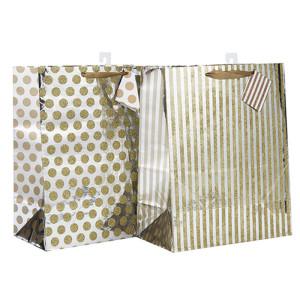 カスタムリボンは、2つのデザインと異なるサイズの優れたデザインの紙袋を処理するTongleパッキングで盛り合わせ