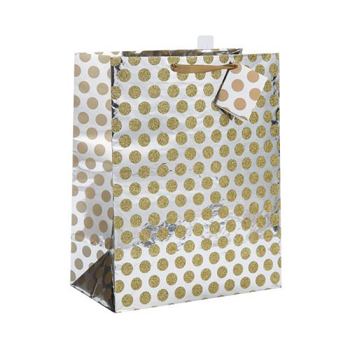 Mango de cinta personalizado Excelente bolsa de papel de diseño con diferentes tamaños con 2 diseños surtidos en embalaje de palanca