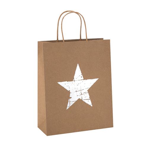 Bolso de papel Kraft natural impreso reciclado personalizado del Pentagram en el embalaje de la llave